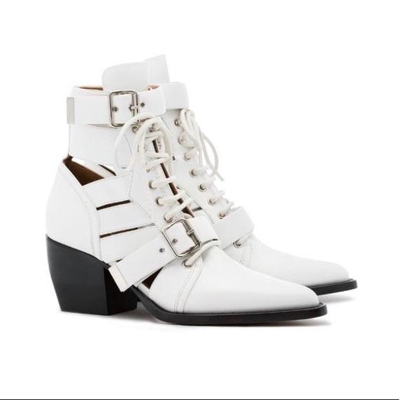 Chloe Shoes   Chloe White Boots   Poshmark